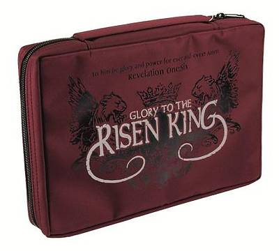 Risen King Large Burgundy Bible Cover