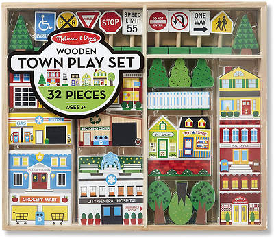 Picture of Wooden Town Play Set