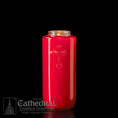 Cathedral 5-Day Glass Offering Candle - Ruby