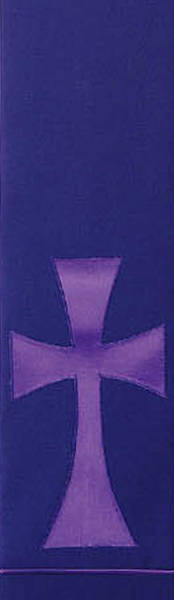 Purple Pure and Simple Cross Stole