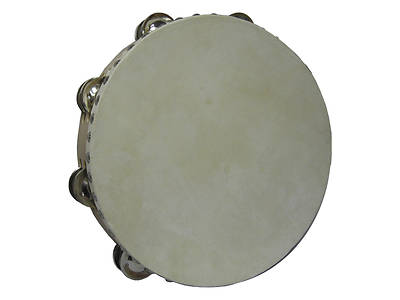 Wood Double Row Tambourine with Head - 10