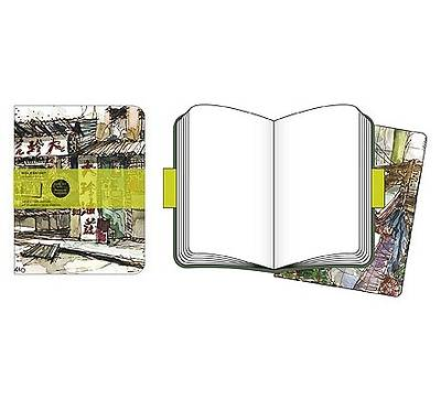 Moleskine Cover Art Chinese Market Plain Journal