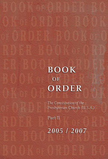 Picture of Presbyterian Book of Order 2005-2007 Braille Edtion