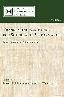 Picture of Translating Scripture for Sound and Performance