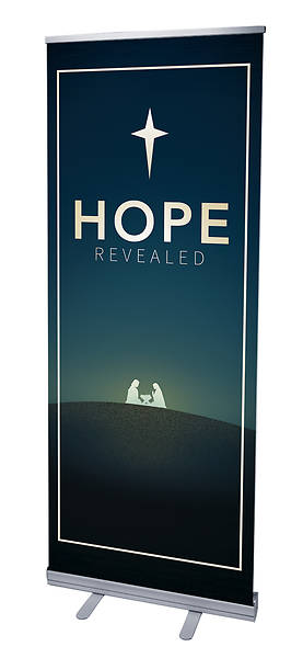 Hope Revealed Advent RollUp Banner with Stand