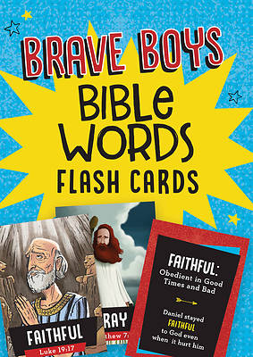 Picture of Brave Boys Bible Words Flash Cards