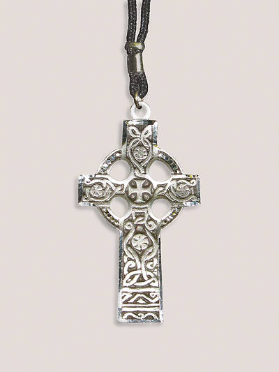 Pewter Celtic Cross with Nylon Cord