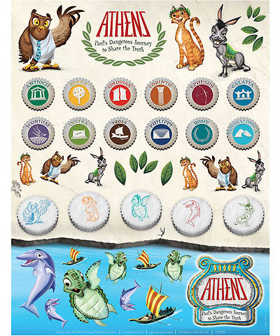 Group VBS 2013 Athens Sticker Sheets (pkg. of 10 sheets)
