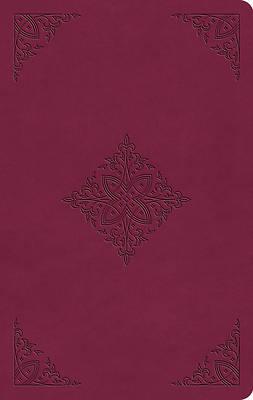 Picture of ESV Value Thinline Bible (Trutone, Raspberry, Fleur-De-Lis Design)