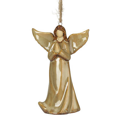 Picture of Ceramic Angel Ornament  With Praying Hands
