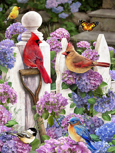 Picture of Cardinals & Friends Jigsaw Puzzle