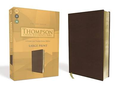 Picture of Kjv, Thompson Chain-Reference Bible, Large Print, Leathersoft, Brown, Red Letter