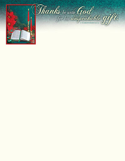 Picture of Unspeakable Gift Christmas Letterhead