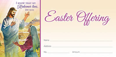 Picture of I Know That My Redeemer Lives Easter Offering Envelope (Pkg of 100)