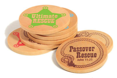 Gospel Light Vacation Bible School 2013 SonWest RoundUp Wooden Coins (pkg 25)