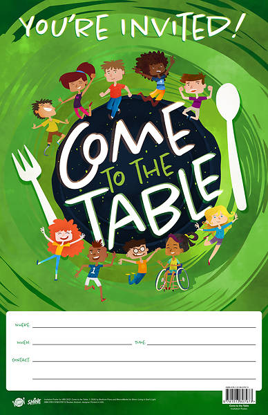 Picture of Vacation Bible School VBS 2021 Come to The Table Invitation Poster