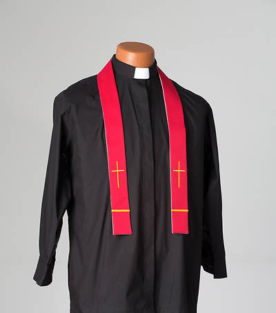 Reversible Red/White Visitation Stole