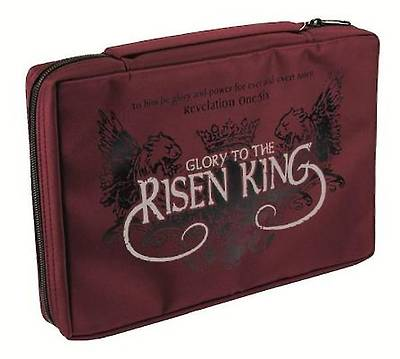 Risen King Micro-Fiber Medium Burgundy Bible Cover