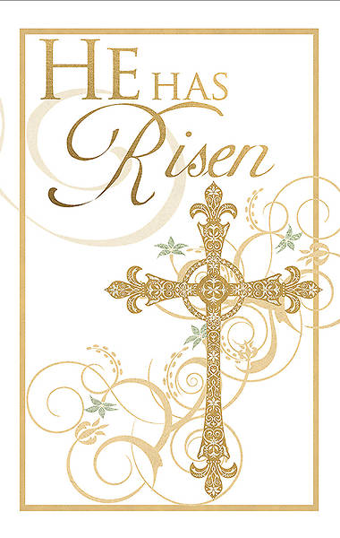 He Has Risen Easter Banner 4x6