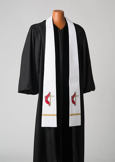 Picture of White United Methodist Liberty With Gold Braid Stole