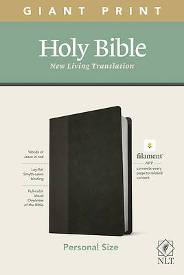 Picture of NLT Personal Size Giant Print Bible, Filament Enabled Edition (Red Letter, Leatherlike, Black/Onyx)