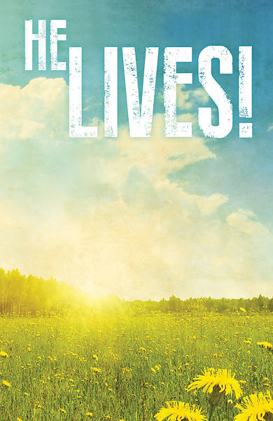 He Lives! Images Easter Bulletin (Pkg of 50)