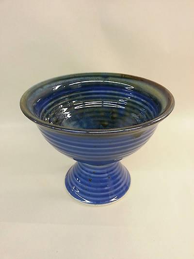 Picture of Baptismal Bowl on Pedestal Earthenware Blue