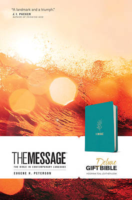 Picture of The Message Deluxe Gift Bible (Leather-Look, Hosanna Teal)