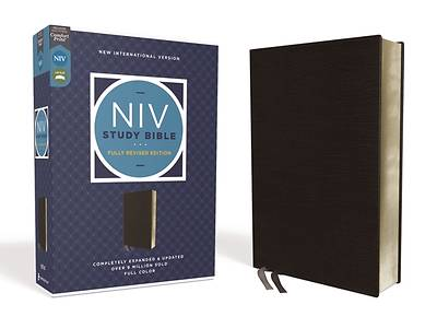Picture of NIV Study Bible, Fully Revised Edition, Bonded Leather, Black, Red Letter, Comfort Print