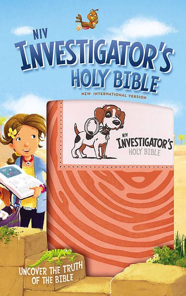 NIV Investigator S Holy Bible, Imitation Leather, Coral