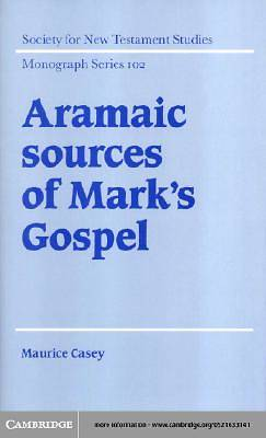 Aramaic Sources of Marks Gospel [Adobe Ebook]