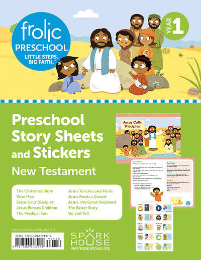 Frolic Preschool Sheets and Stickers Yr 1 New Testament