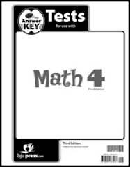 Math Grade 4 Test Pack Answer Key 3rd Edition