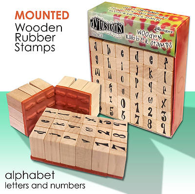 Dyan Reaveleys Dylusions Wooden Rubber Stamps - Alphabet Set