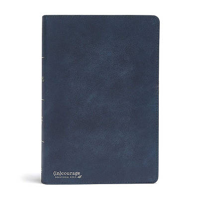 Picture of CSB (In)Courage Devotional Bible, Navy Genuine Leather Indexed