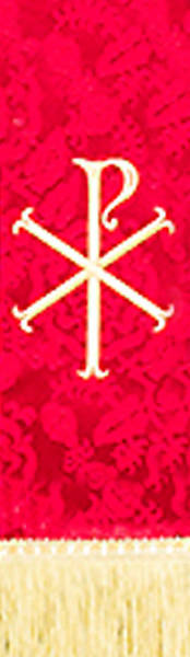 Picture of Red Stole with Chi Rho symbol