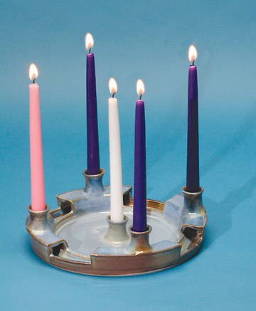 Advent Wreath Earthenware