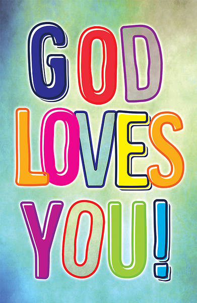Picture of God Loves You Postcard - Psalm 100:2