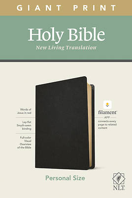 Picture of NLT Personal Size Giant Print Bible, Filament Enabled Edition (Red Letter, Genuine Leather, Black)