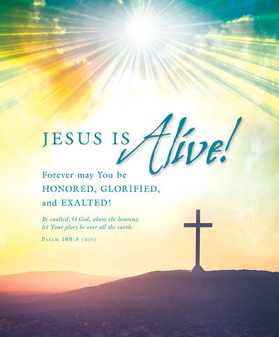 Jesus is Alive! Easter Legal Size Bulletin