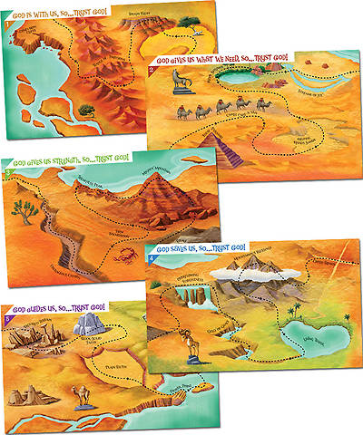 Group VBS 2014 Wilderness Escape God Sightings Giant Maps Set of 5