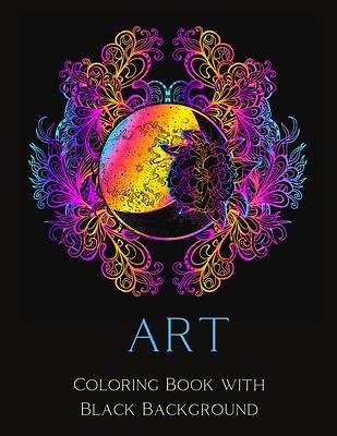 Picture of Art Coloring Book with Black Background