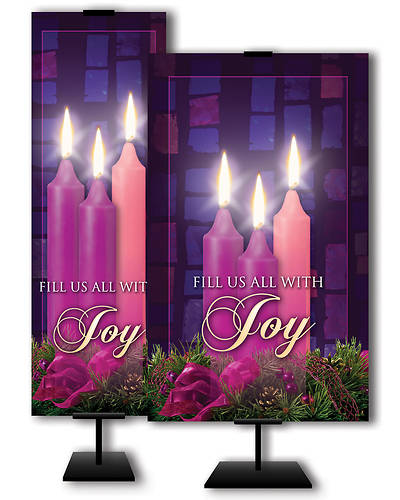 Fill Us All With Joy Advent 3x 5 Banner
