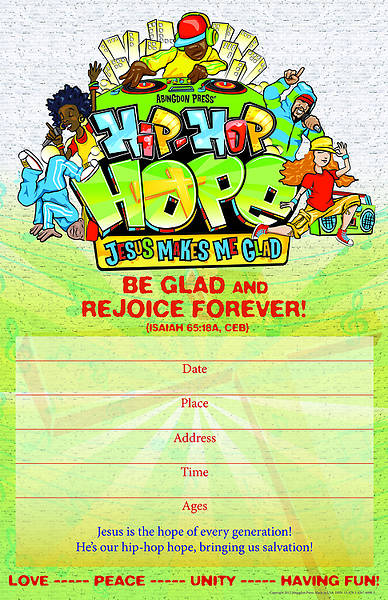 Vacation Bible School 2013 Hip-Hop Hope Promo Poster VBS
