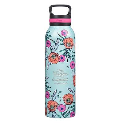 Picture of Stainless Steel Water Bottle His Grace Is Sufficient 2 Corinthians 12