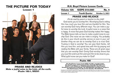 Picture of RH Boyd Children Picture Lesson Cards Qrt 4 October-December 2021