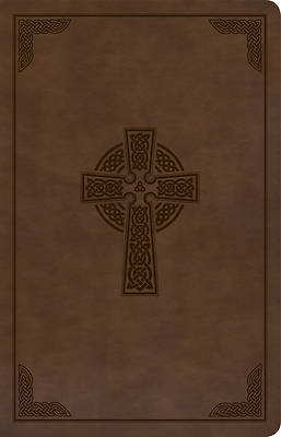 Picture of KJV Large Print Personal Size Reference Bible, Brown Celtic Cross Leathertouch