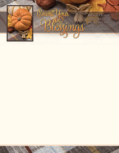 Picture of Count Your Blessings Letterhead Psalm 103:2 NIV