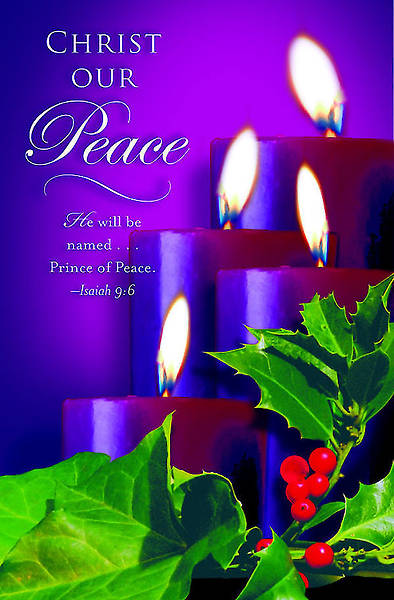 Advent Purple Sunday 4 Bulletin 2012, Regular Size (Package of 50)