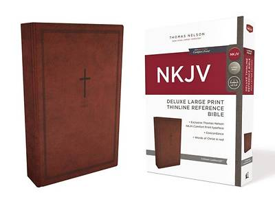 NKJV, Deluxe Thinline Reference Bible, Large Print, Imitation Leather, Red, Red Letter Edition, Comfort Print
